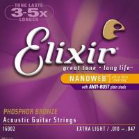 Muta corde Elixir 16002 (10-47) per chitarra acustica
