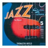 Thomastik-Infeld JF 345 long scale - Flat Wound Muta per basso elettrico 5 corde