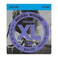 D'Addario EXL 115 Medium Muta di corde per chitarra elettrica