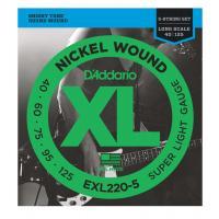 D' addario EXL 220-5 Muta di corde per basso elettrico 5 corde