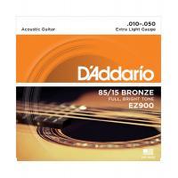Muta di corde D'Addario EZ 900 Extra Light per chitarra acustica