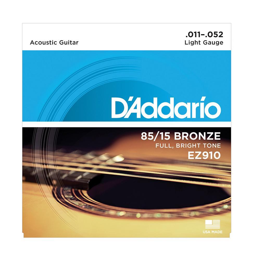 D'Addario EZ 910 Light Muta di corde per chitarra acustica