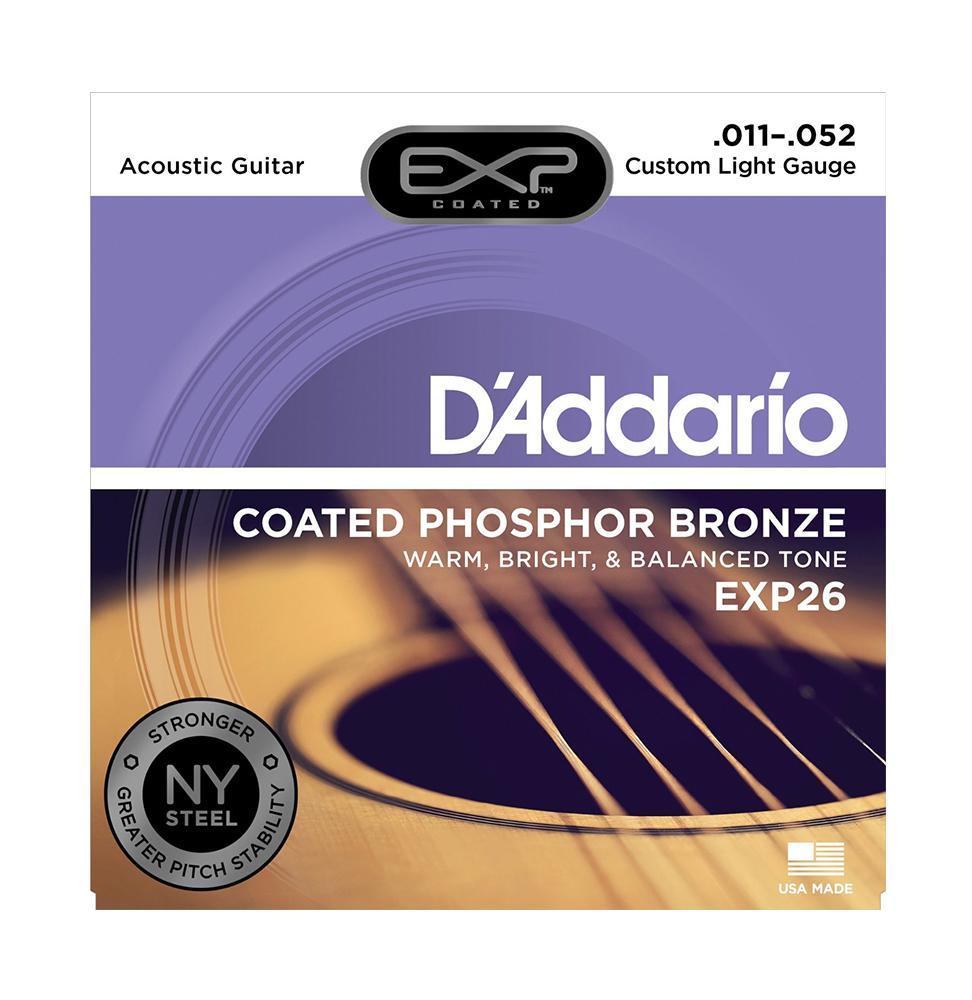 D'Addario EXP 26 Custom Light Muta di corde per chitarra acustica