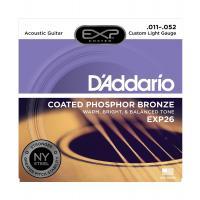 Muta di corde D'Addario EXP 26 Custom Light per chitarra acustica