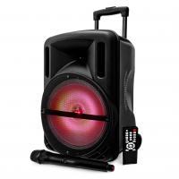 Diffusore Amplificato Karma Djoon a LED 100 W con radiomicrofono a Batteria ricaricabile cassa attiva