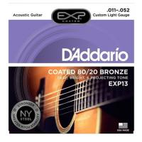 Muta di corde D'Addario EXP 13 Custom Light per chitarra acustica