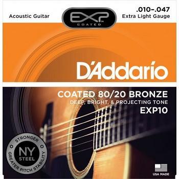 D'Addario EXP 10 Extra Light Bronze 10-47 Muta di corde per chitarra acustica