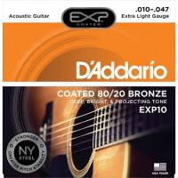 Muta di corde D'Addario EXP 10 Extra Light Bronze 10-47 per chitarra acustica