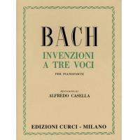 BACH Invenzioni a tre voci (Casella) - Edizioni Curci