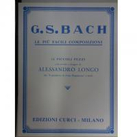Bach Le più facili composizioni 12 piccoli pezzi - Edizione Curci