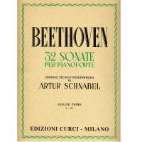 Beethoven 32 Sonate per pianoforte Edizione Tecnico-Interpretativa di Artur Schnabel Volume primo (1-12) EDIZIONE CURCI