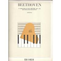 Beethoven 9^ Sinfonia in Re minore Op. 125 Riduzione per pianoforte (POZZOLI) - RICORDI