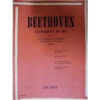 Beethoven Concerto in DO Op. 15 per Pianoforte e Orchestra  riduzione per 2 pianoforti (Montani) - RICORDI
