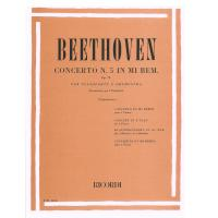 Beethoven Concerto n. 5 in Mi Bem. Op 73 Per Pianoforte e Orchestra (Tagliapietra) - Ricordi