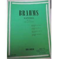 Brahms Rapsodia op. 119 n. 4 per pianoforte - Ricordi