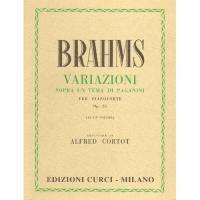 Brahms Variazioni Sopra un tema di Paganini per pianoforte Op. 35 - Edizione Curci
