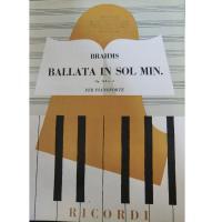 Brahms Ballata in Sol min. Op 118 n. 3 per pianoforte - Ricordi