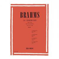 Brahms 51 Esercizi Op. Extra per pianoforte Vol.I (n 1 - 25) (Pozzoli) - RICORDI