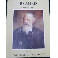 Brahms Scherzo Op. 4 Piano Solo Universal Edition NO. 2257