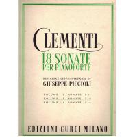 Clementi 18 Sonate per pianoforte revisione critico tecnica di Giuseppe Piccioli Volume II - Edizione Curci Milano