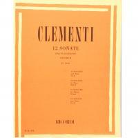 Clementi 12 Sonate per pianoforte Vol. II (Cesi) - Ricordi