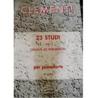 Clementi 23 STUDI dal gradus ad parnassum per pianoforte (Alati) - Carisch