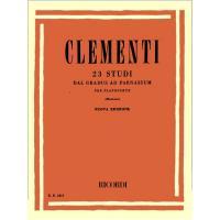 Clementi  23 STUDI dal gradus ad parnassum per pianoforte (Montani) Nuova edizione - Ricordi