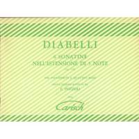 Diabelli 6 Sonatine nell'estensione di 5 note (Op. 163) per pianoforte a quattro mani Nuova Edizione Riveduta da E. Pozzoli - Carisch