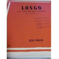 Longo 12 Studi di terze Op. 35 per pianoforte - Ricordi