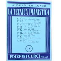 Longo La tecnica pianistica IV - Edizioni Curci Milano