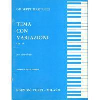 Martucci Tema con variazioni Op. 58 per pianoforte (Perrino) - Edizioni Curci Milano