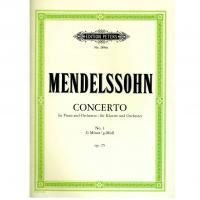 Mendelssohn Concerto per piano e orchestra n. 1 G minor Op. 25 - Edition Peters