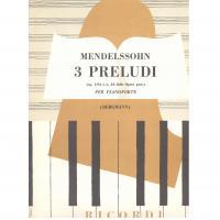 Mendelssohn 3 Preludi op. 104 per pianoforte - Ricordi