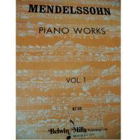 Mendelssohn PIANO WORKS Vol. 1 - Belwin Mills
