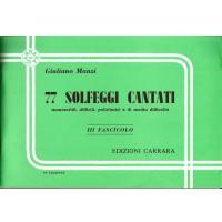 Manzi 77 Solfeggi Cantati manoscritti, difficili, poliritmici e di media difficoltà 3 - Carrara