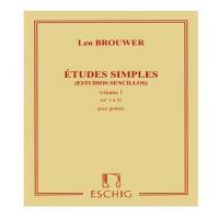 Brouwer Leo - Estudios sencillos volume 1 - Eschig