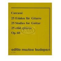 Carcassi Matteo - 25 studi melodici progressivi op.60 - Editio musica budapest
