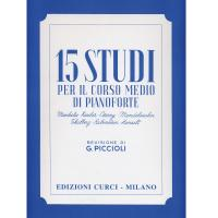 Piccioli 15 Studi per il corso medio di pianoforte - Edizioni Curci Milano