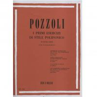 Pozzoli I primi esercizi di stile Polifonico 50 piccoli canoni per pianoforte - Ricordi