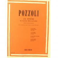 Pozzoli 24 Studi di facile meccanismo per pianoforte come prepararsi agli