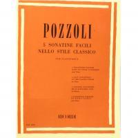 Pozzoli 5 Sonatine facili nello stile classico per pianoforte - Ricordi