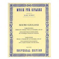 Musik fur gitarre Karl Scheit - Mauro Giuliani op.107 variationen - Universal Edition
