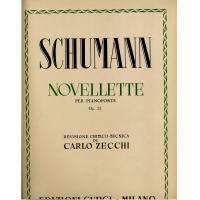 Schumann Novellette per pianoforte Op. 21 Revisione critico - tecnica di Carlo Zecchi - Edizioni Curci Milano