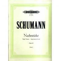 Schumann Nachtstucke Opus 23 (Sauer) Edition Peters
