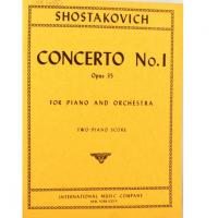 Shostakovich Concerto No. 1 Opus 35 for piano and orchestra two-piano score- International music company New York 10016