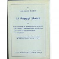 Tissoni 32 Solfeggi Parlati Editore Guglielmo Zanibon Padova