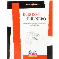 Vinciguerra Il rosso e il nero Pezzi facili per pianoforte a quattro mani in stile jazzistico - Curci Young