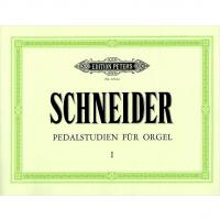 Schneider Pedalstudien fur Orgel I - Edition Peters