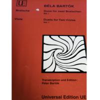 Béla Bartok Viola Duets for two Violas Vol. I - Universal Edition