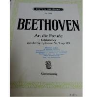 Beethoven An die Freude Schlubchor aus der Symphonie Nr.9 op. 125 - Klavierauszug